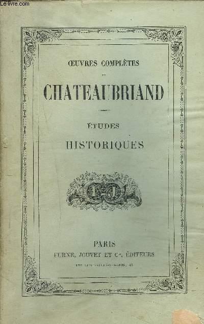 OEUVRES COMPLETES DE CHATEAUBRIAND - TOME VII - ETUDES HISTORIQUES.