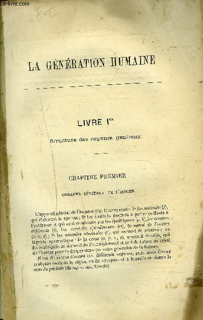 LA GENERATION HUMAINE - INCOMPLET.