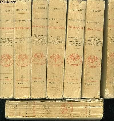 OEUVRES COMPLETES DE SHAKESPEARE / TRADUCTION DE M.GUIZOT / NOUVELLE EDITION ENTIEREMENT REVUE / EN 8 TOMES / TOMES 1 + 2 + 3 + 4 + 5 + 6 + 7 + 8 .