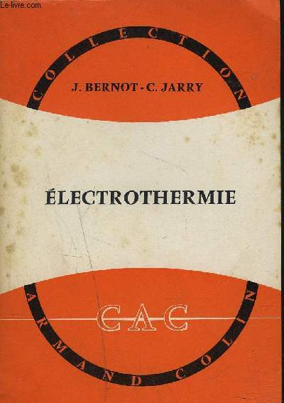 ELECTROTHERMIE / COLLECTION ARMAND COLIN N°353.
