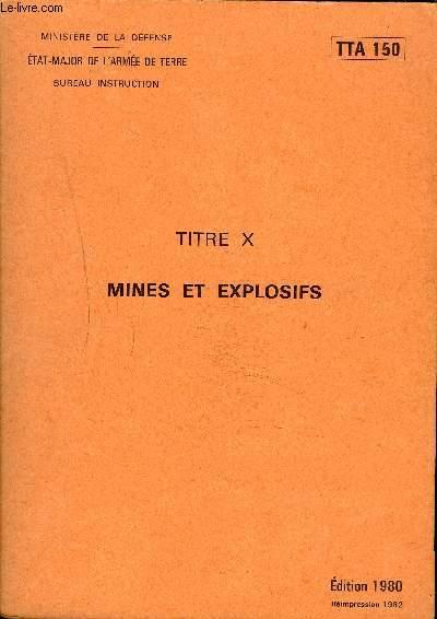 MINES ET EXPLOSIFS - TTA 150.