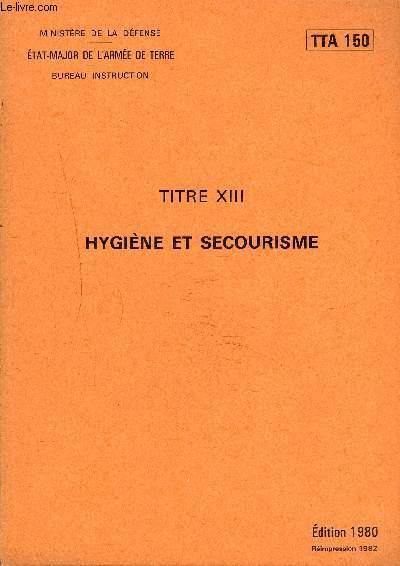 HYGIENE ET SECOURISME - TTA 150.