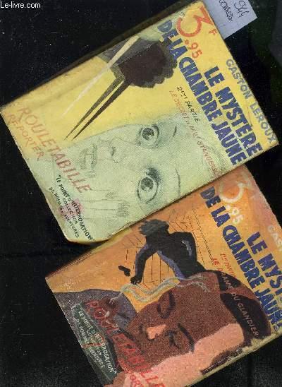 LE MYSTERE DE LA CHAMBRE JAUNE - EN DEUX TOMES - TOMES 1 + 2 / TOME 1 : LE DRAME DU GLANDIER - TOME 2 : LE SECRET DE MLLE STANGERSON.