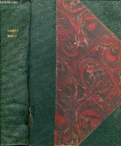 LA SAINTE BIBLE (TEXTE LATIN ET TRADUCITON FRANCAISE) COMMENTEE D'APRES LA VULGATE ET LES TEXTES ORIGINAUX A L'USAGE DES SEMINAIRES ET DU CLERGE - TOME 2 - 3E EDITION.