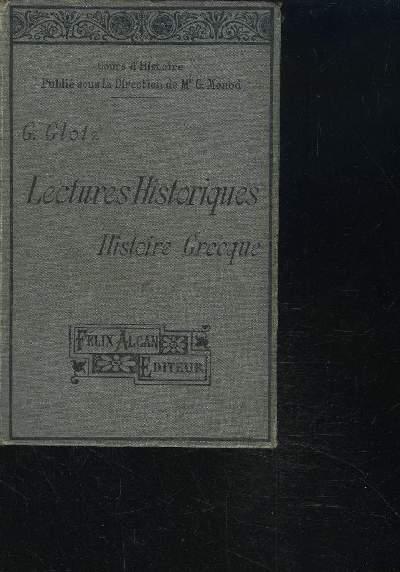 LECTURES HISTORIQUES - HISTOIRE GRECQUE