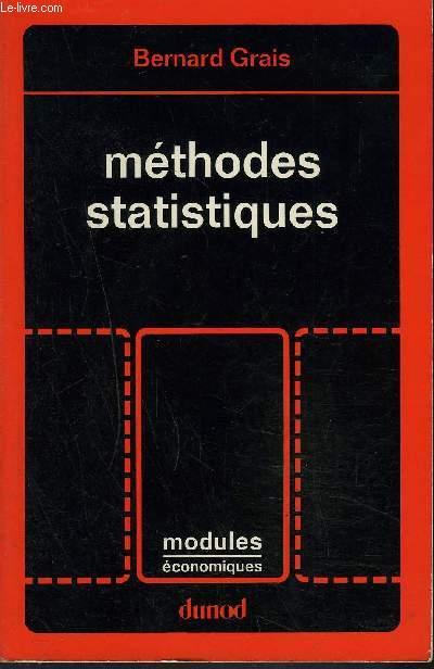 METHODES STATISTIQUES