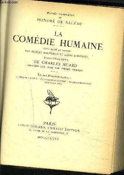 LA COMEDIE HUMAINE