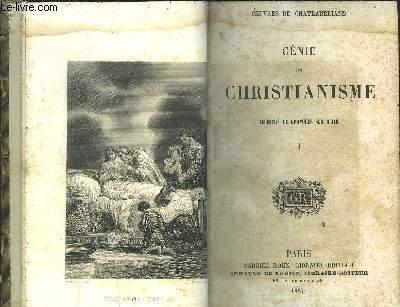 GENIE DU CHRISTIANISME 1 VOLUME  TOME 1+ TOME 2