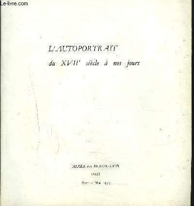AUTOPORTRAIT XVIIe SIECLE A NOS JOURS