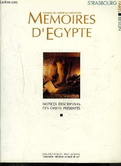 MEMOIRES D'EGYPTE