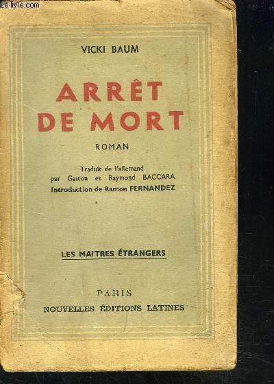 ARRET DE MORT