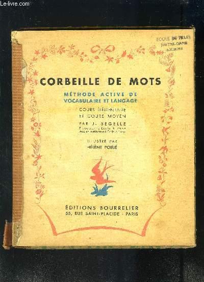 CORBEILLE DE MOTS- METHODE ACTIVE DE VOCABULAIRE ET LANGAGE- COURS ELEMENTAIRE ET COURS MOYEN