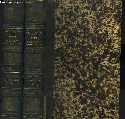 CODE NAPOLEON- PRIVILEGES ET HYPOTEQUES- 2 TOMES ET 2 VOLUMES (TOME 10e ET 11e)