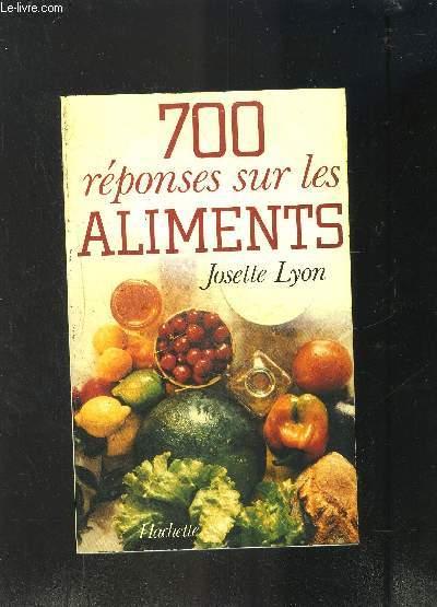 700 REPONSES SUR LES ALIMENTS