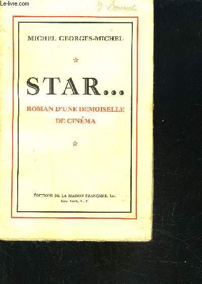 STAR... ROMAN D UNE DEMOISELLE DE CINEMA