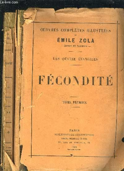 OEUVRES COMPLETES ILLUSTREES- LES QUATRE EVANGILES- FECONDITE- 2 TOMES EN 2 VOLUMES