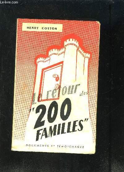 LE RETOUR DES 200 FAMILLES