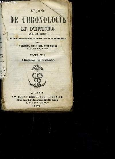 LECONS DE CHRONOLOGIE ET D HISTOIRE- TOME VII HISTOIRE DE FRANCE