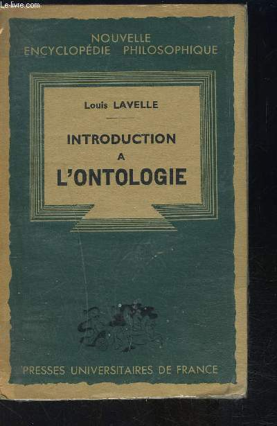 INTRODUCTION A L ONTOLOGIE