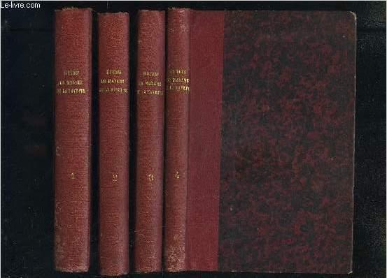 OEUVRES DE MADAME DE LA FAYETTE- 4 TOMES EN 4 VOLUMES- Tome 1 et 2: Mme de La Fayette- Tome 3: Mme de Tencin- Tome 4: Mme de Tencin / Mme de Fontaines