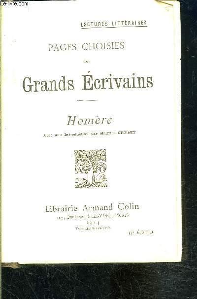 PAGES CHOISIES DE GRANDS ECRIVAINS- HOMERE
