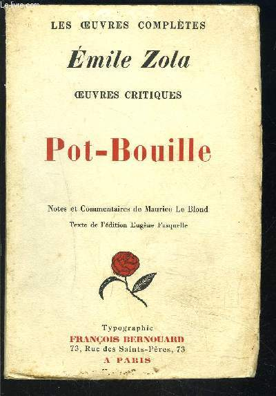 POT BOUILLE - LES OEUVRES COMPLETES