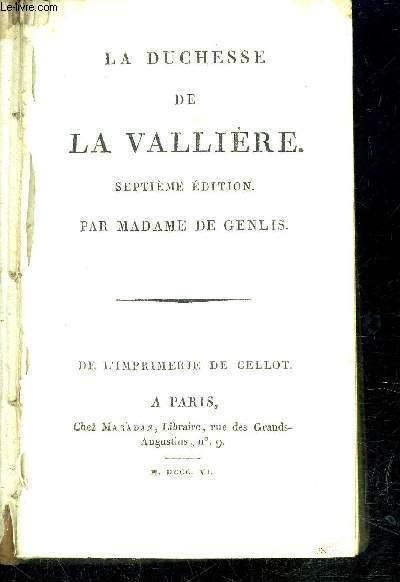 LA DUCHESSE DE LA VALLIERE