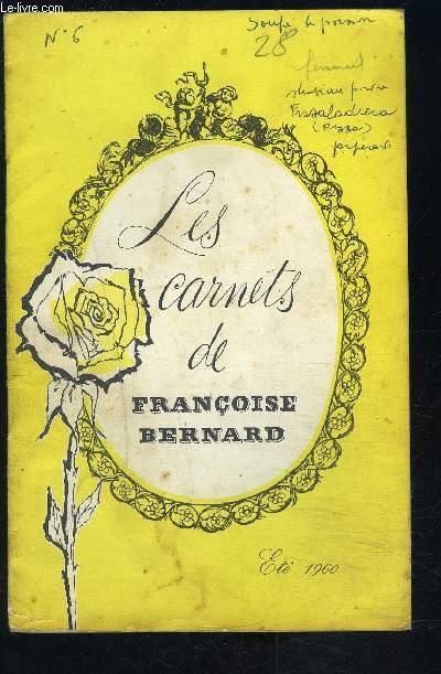 LES CARNETS DE FRANCOISE BERNARD- Eté 1960- Des vacances pour votre estomac!- Pour vous, Monsieur...-