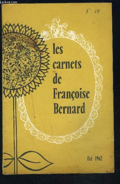 LES CARNETS DE FRANCOISE BERNARD- Eté 1962- Un ami à ménager: votre réfrigérateur- Plaisir de l'été: les plats en gelée...