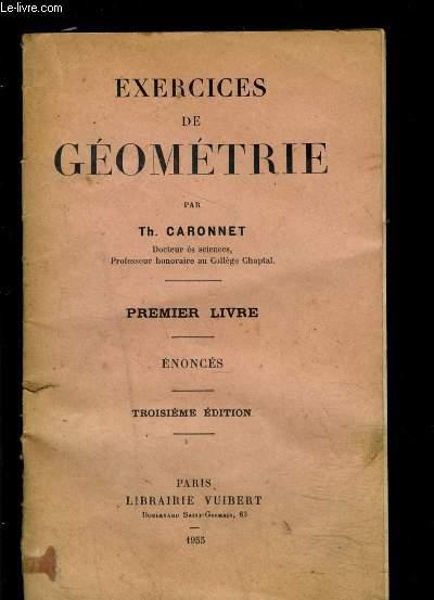 EXERCICES DE GEOMETRIE- PREMIER LIVRE- ENONCES