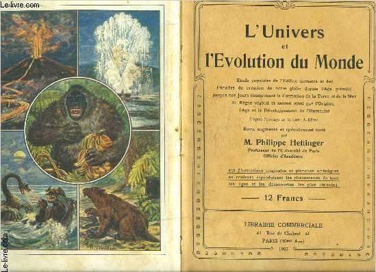L UNIVERS ET L EVOLUTION DU MONDE