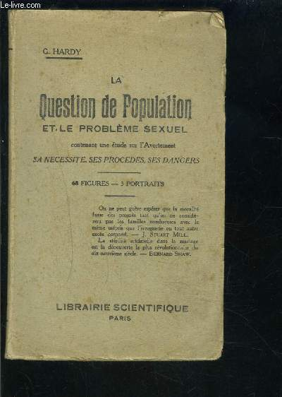 LA QUESTION DE POPULATION ET LE PROBLEME SEXUEL