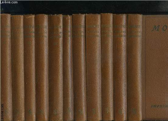 OEUVRES COMPLETES DE MOLIERE- COMPLET- 11 TOMES EN 11 VOLUMES