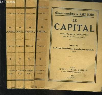 OEUVRES COMPLETES DE KARL MARX- LE CAPITAL- INCOMPLET- 4 tomes en 4 volumes- Tome XI à XIV- Procès d'ensemble de la production capitaliste (suite) pour les 4 volumes