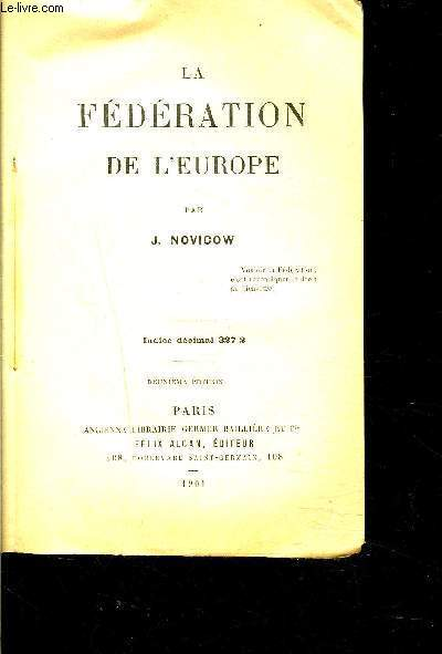 LA FEDERATION DE L EUROPE