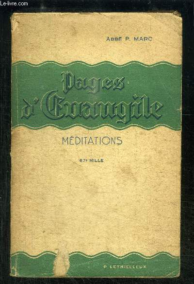 PAGES D EVANGILE- MEDITATIONS