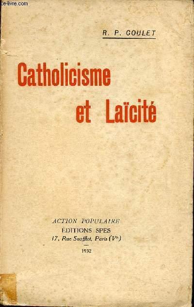 CATHOLICISME ET LAICITE