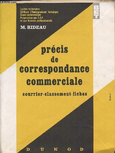 PRECIS DE CORRESPONDANCE COMMERCIALE (Courrier - Classement - Fiches)