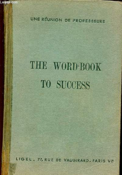 THE WORD-BOOK TO SUCCESS