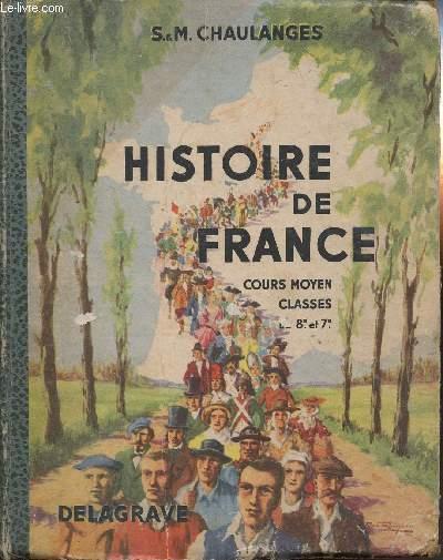 HISTOIRE DE FRANCE- COURS MOYEN CLASSES DE 7e ET 8e