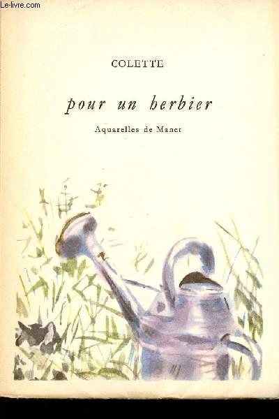 POUR UN HERBIER - AQUARELLES DE MANET