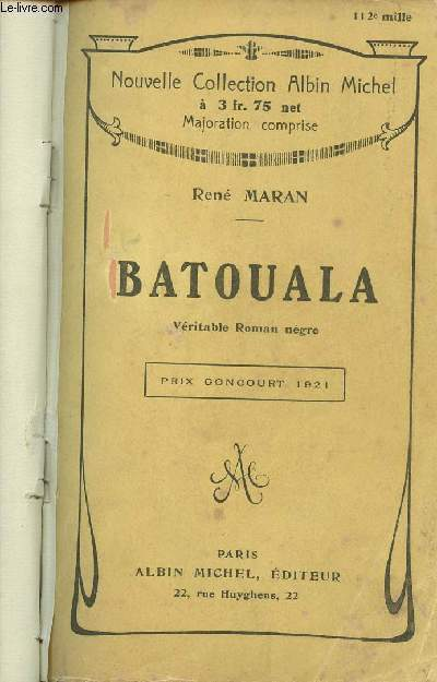 BATOUALA - VERITABLE ROMAN NEGRE