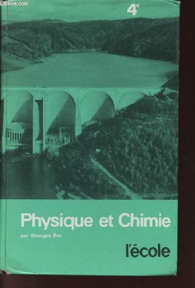 PHYSIQUE ET CHIMIE - COLLEGES D'ENSEIGNEMENT GENERAL COURT - CLASSE DE QUATRIEME - PROGRAMME DE 1959