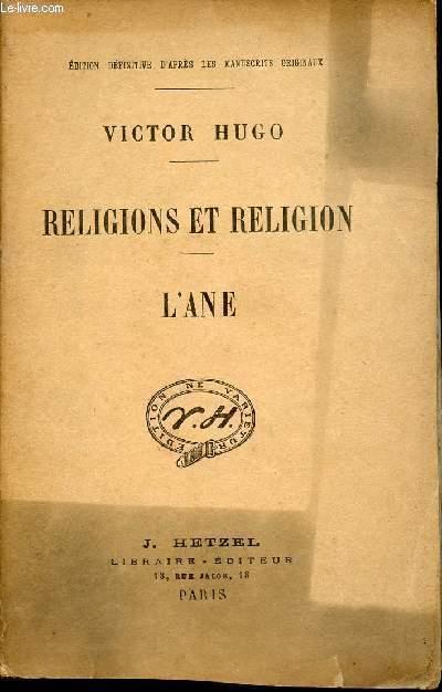 RELIGIONS ET RELIGION - L'ANE