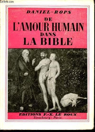 DE L'AMOUR HUMAIN DANS LA BIBLE