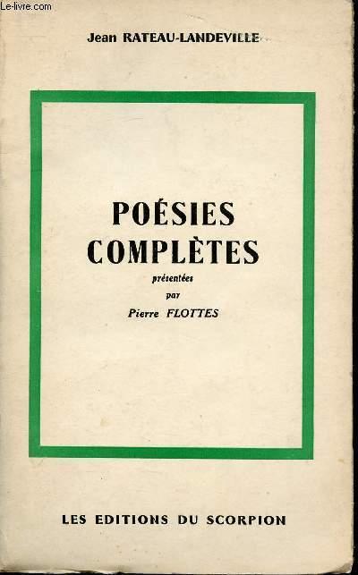 POESIES COMPLETES PRESENTEES PAR PIERRE FLOTTES