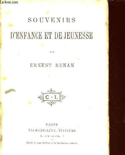 SOUVENIRS D'ENFANCE ET DE JEUNESSE