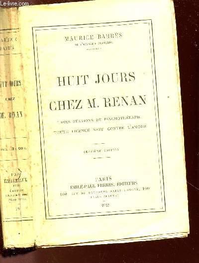 HUIT JOURS CHEZ M.RENAN