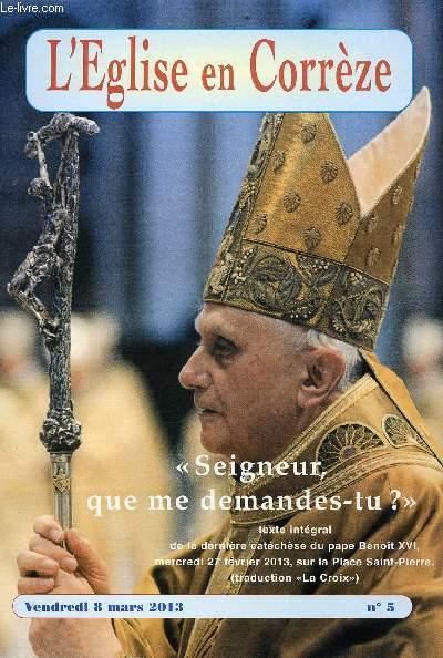 SUPPLEMENT DE L'EGLISE EN CORREZE - N° 5 - 8 MARS 2013