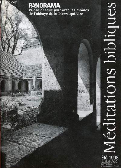 PANORAMA - SUPPLEMENT ETE 98 - N°335 : MEDITATIONS BIBLIQUES